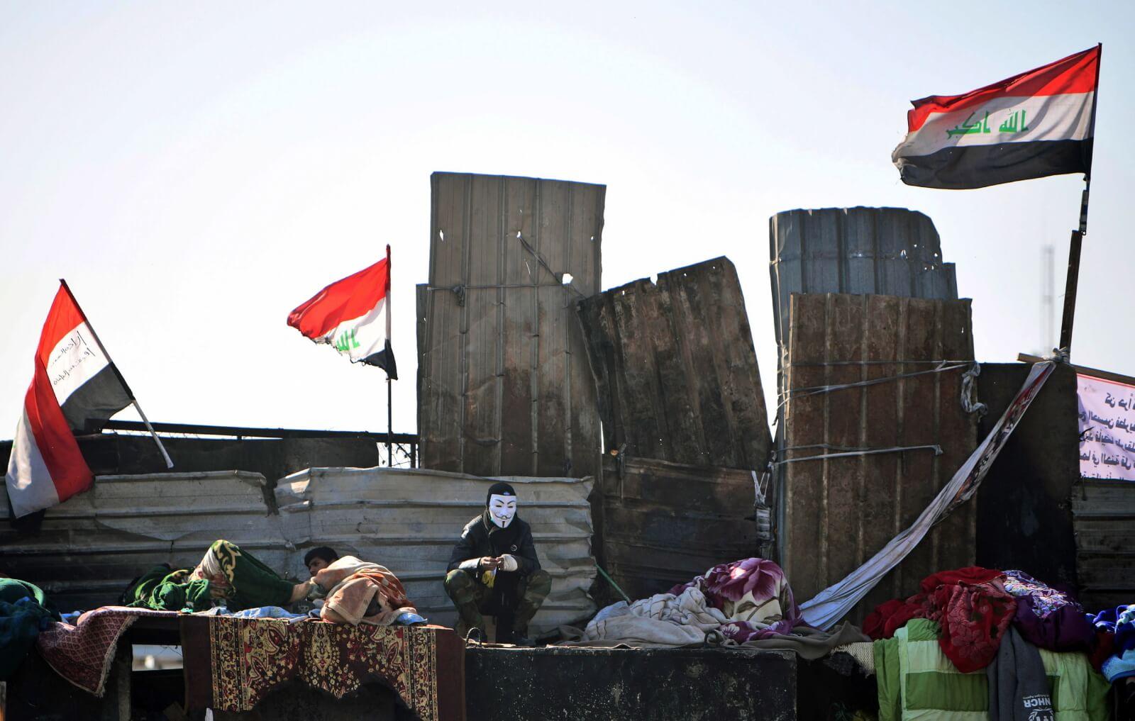 Protesty w Iraku fot. PA/MURTAJA LATEEF