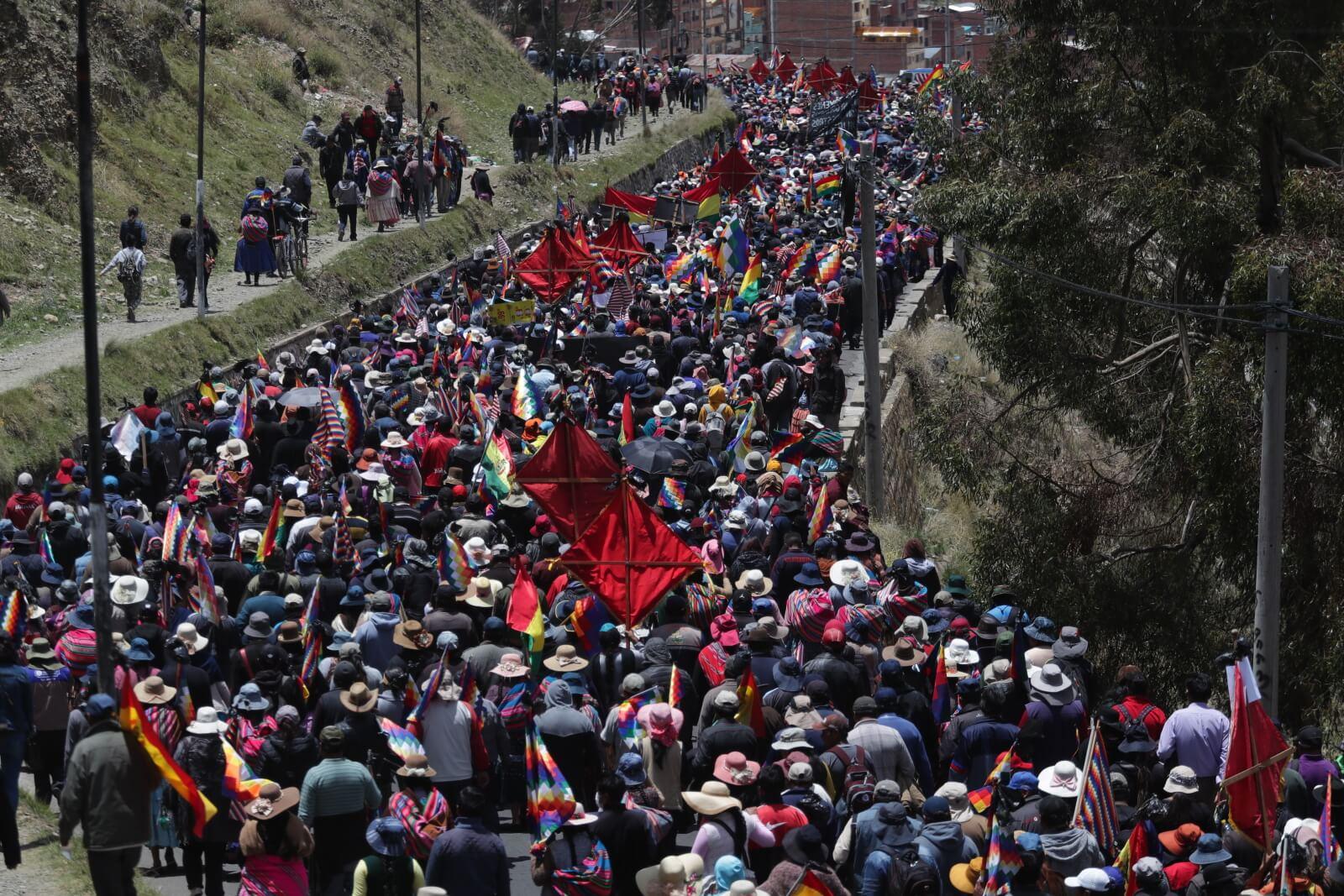 Kryzys w Boliwii nie ustaje fot. EPA/Rodrigo Sura