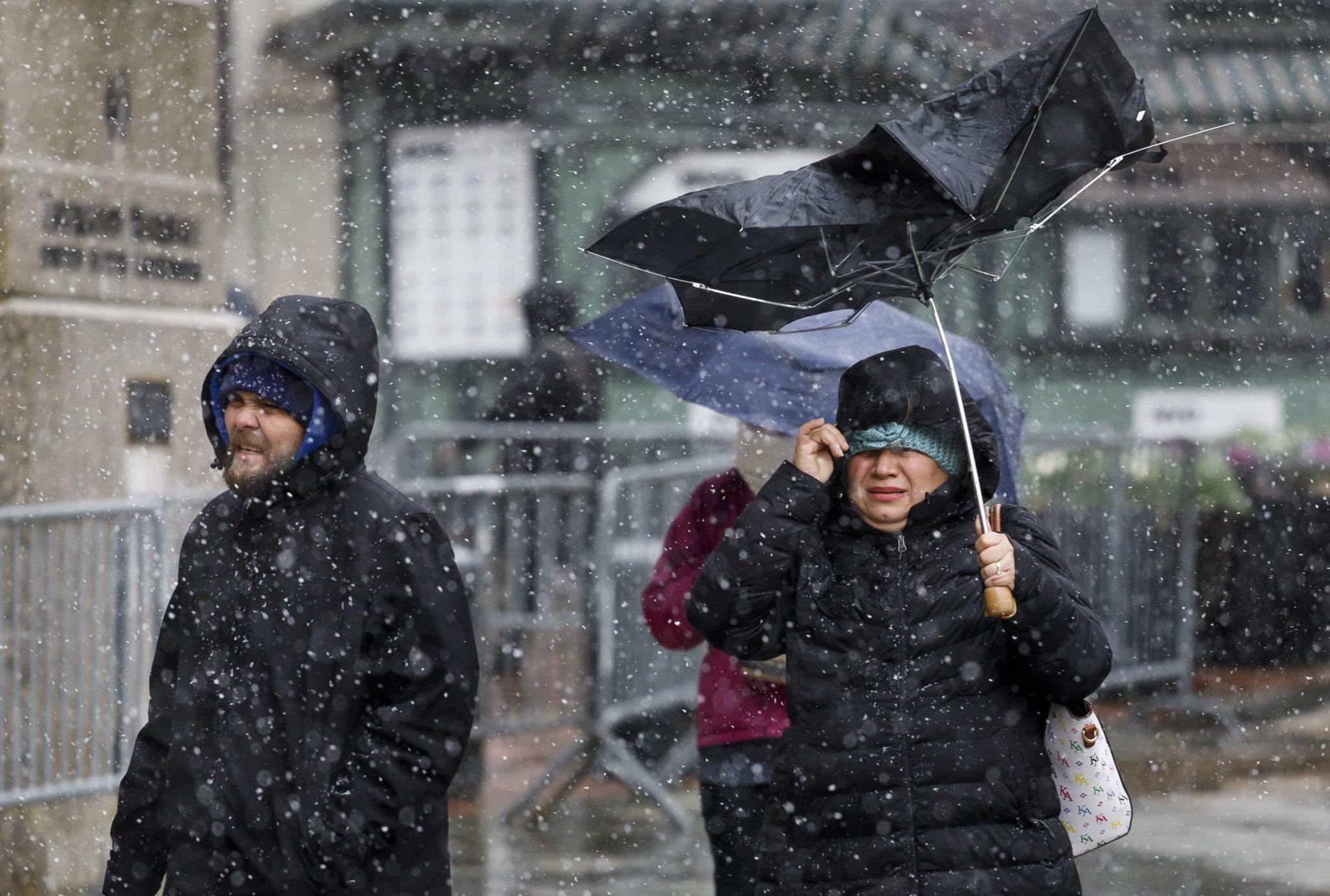 Zimowa wichura w Nowym Jorku, fot. EPA/JUSTIN LANE