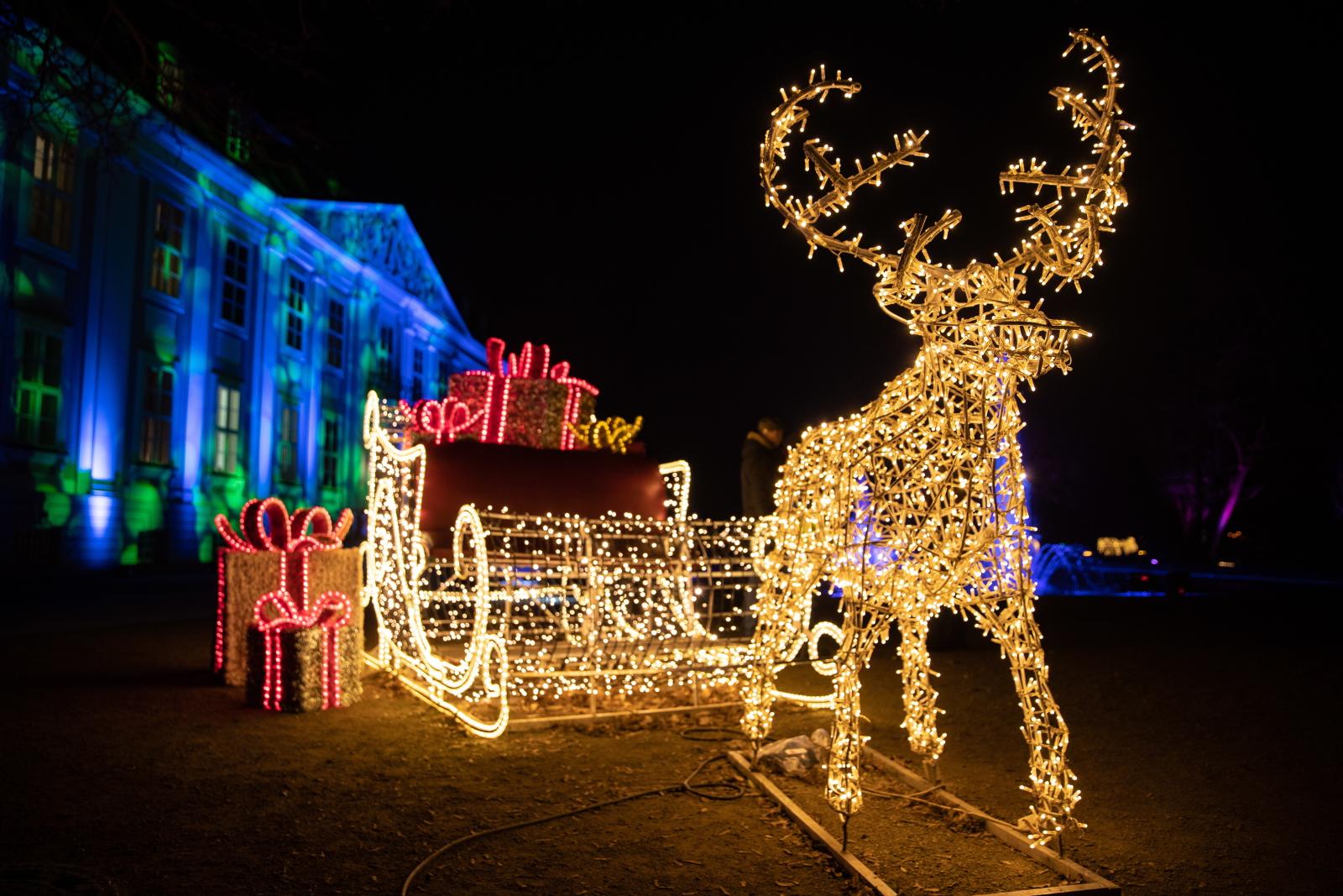 Świąteczna dekoracja we Frankfurcie fot. EPA/HAYOUNG JEON