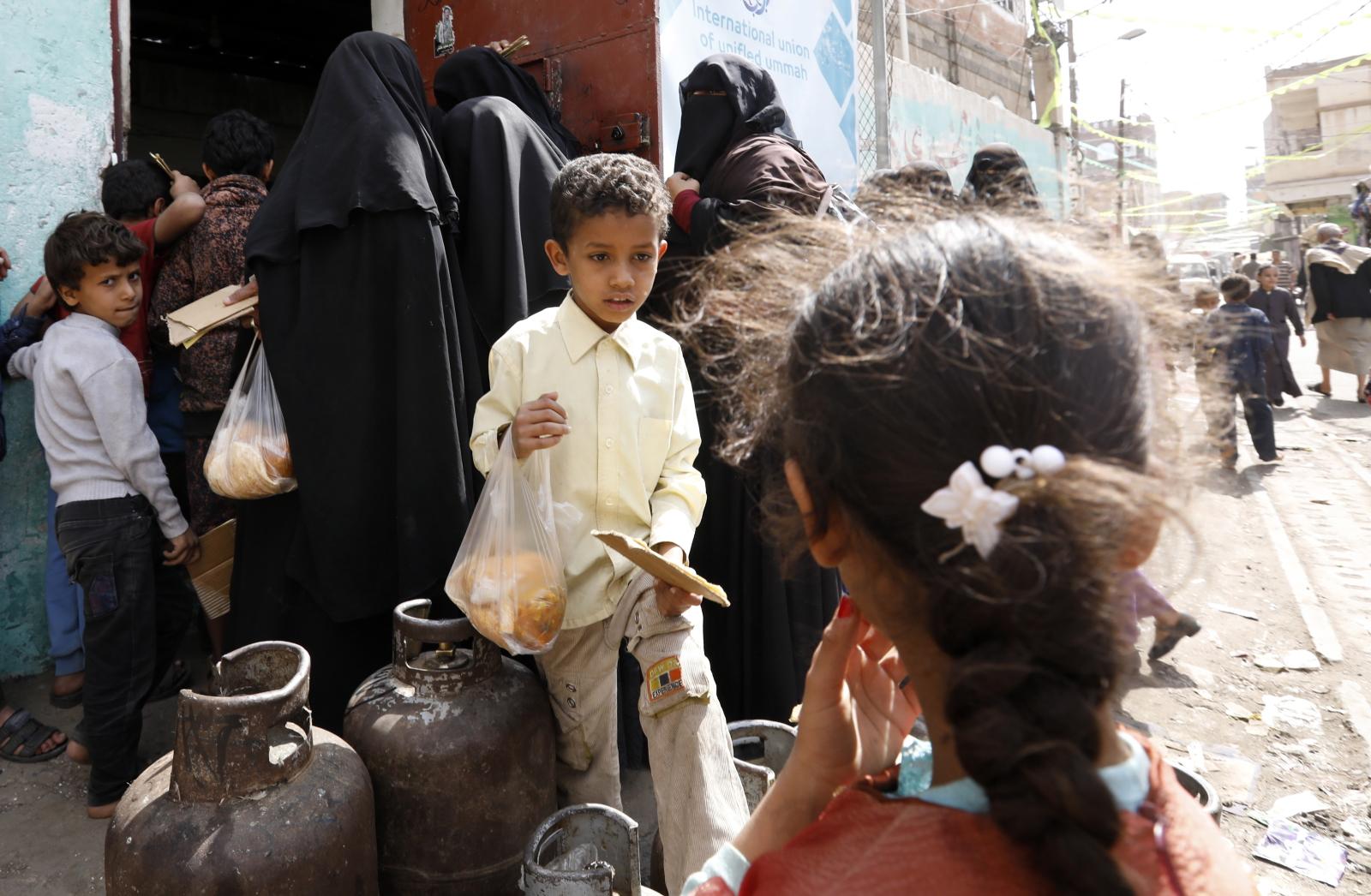 Kryzys żywnościowy w Jemenie EPA/YAHYA ARHAB