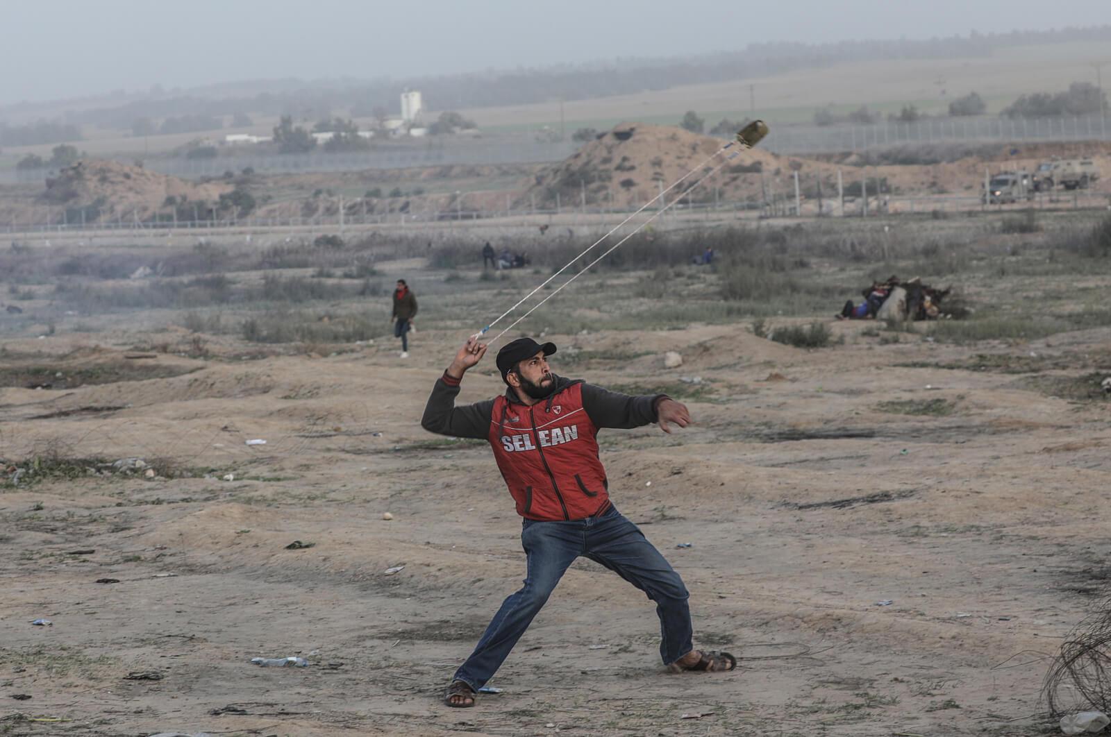 W Strefie Gazy ciągle niespokojnie fot. EPA/MOHAMMED SABER