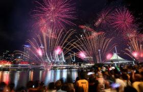 Australia. Nowy Rok 2020. fot. EPA/DAN PELED