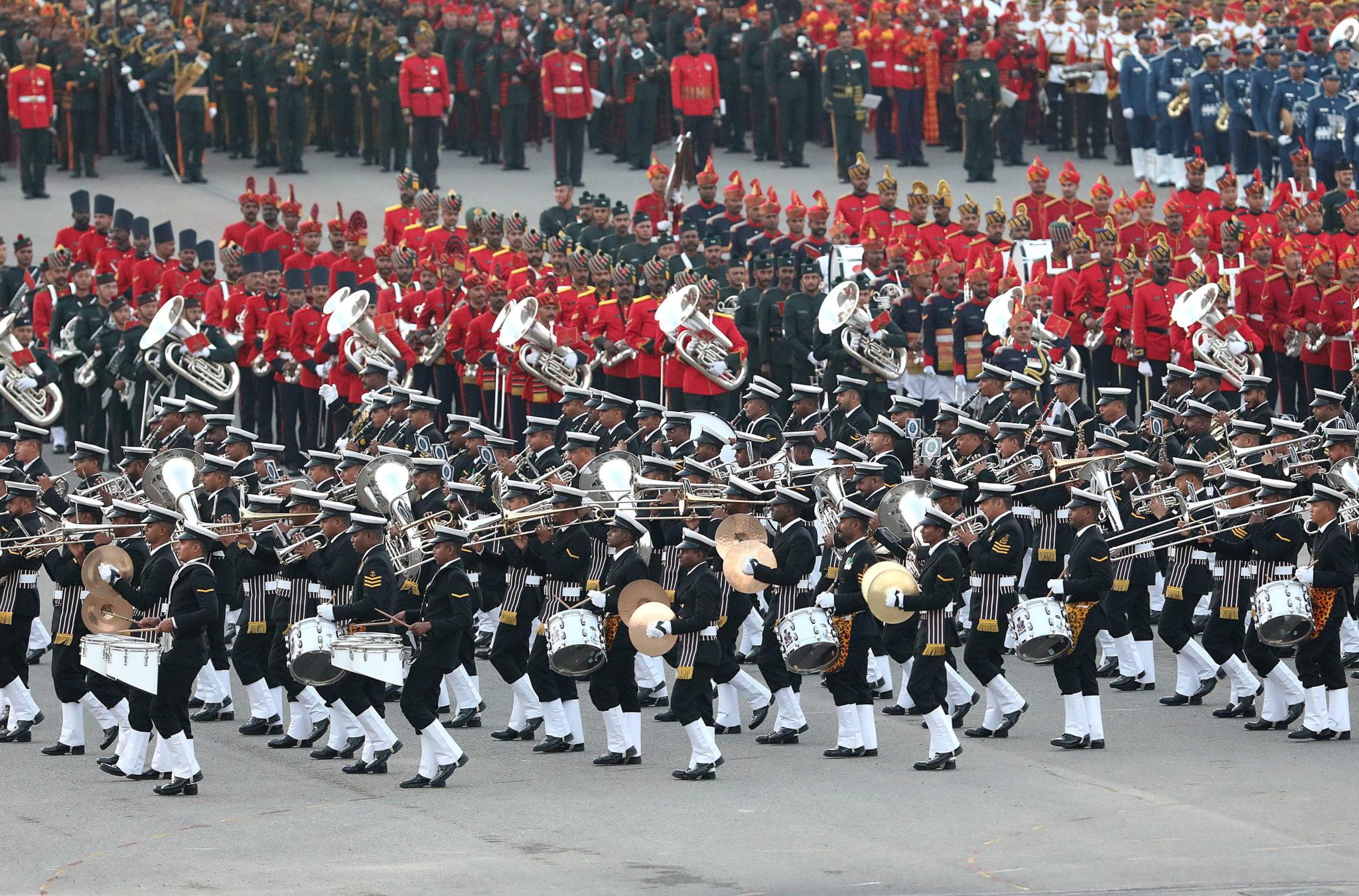 Świąteczna Parada wojskowa w indiach. fot. EPA/HARISH TYAGI