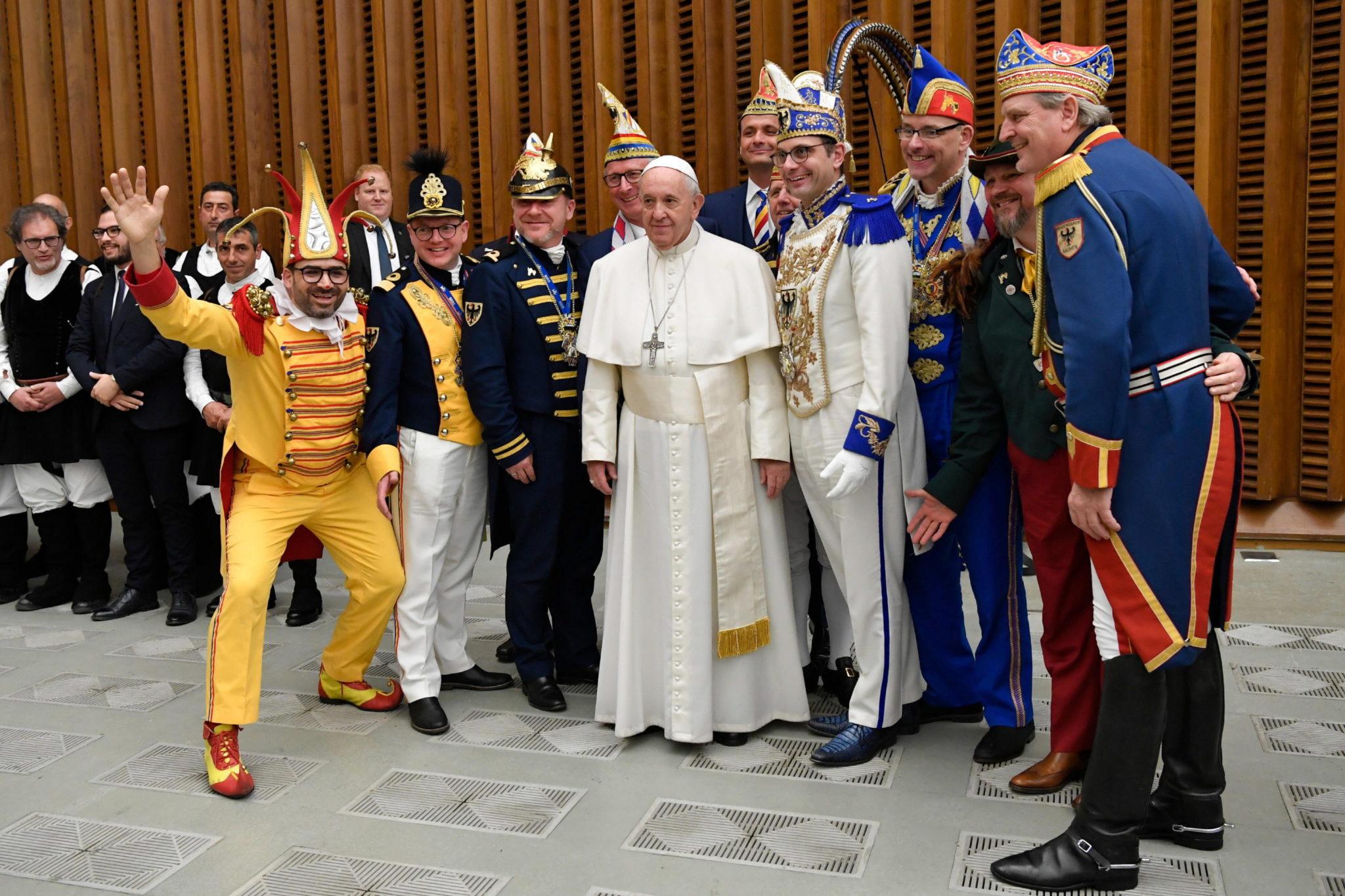 Środowa audiencja w Watykanie. fot. EPA/VATICAN MEDIA