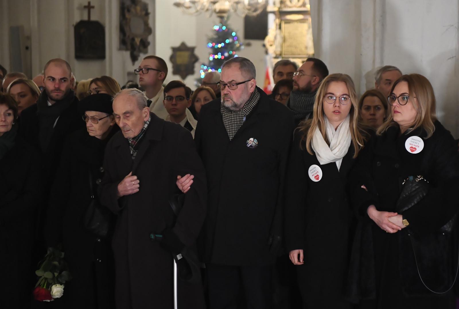 Msza św. w intencji zmarłego prezydenta Adamowicza fot. PAP/Marcin Gadomski