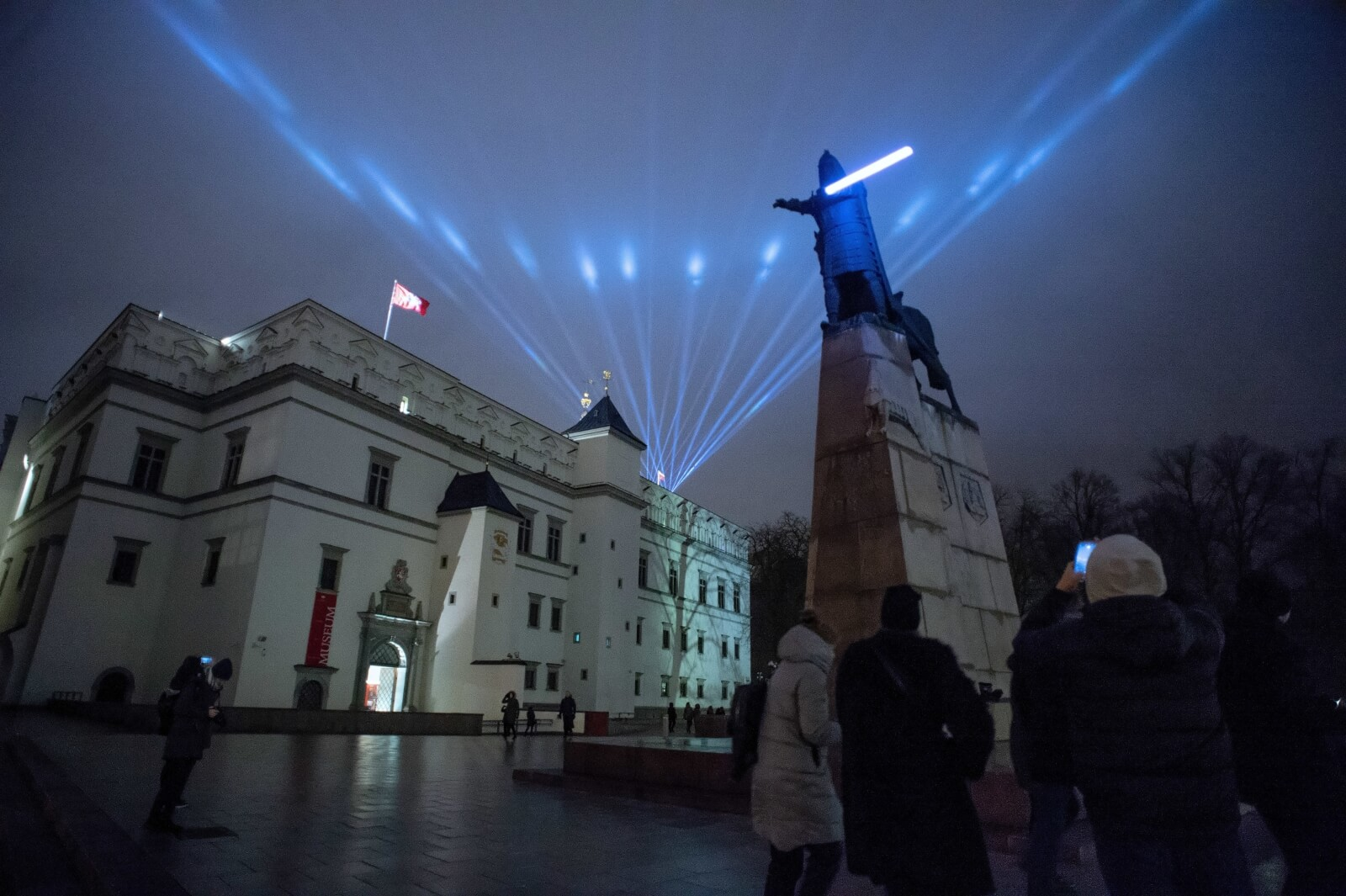 Festiwal świateł w Wilnie fot. PAP/Valdemar Doveiko