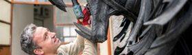 Sztuka z recyklingu w Mohaczu fot. EPA/Tamas Soki