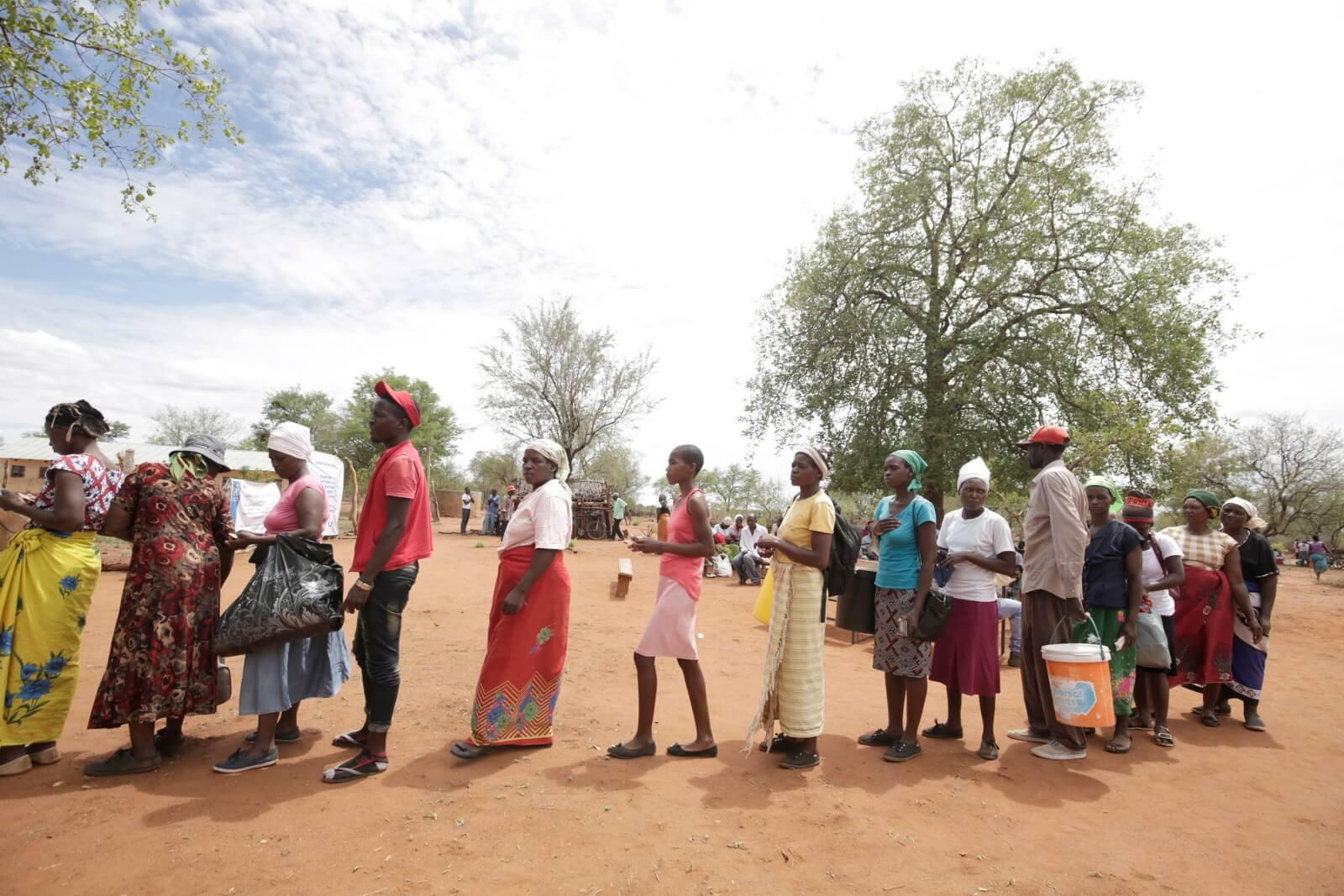 Susza w Zimbabwe fot.  EPA/AARON UFUMELI