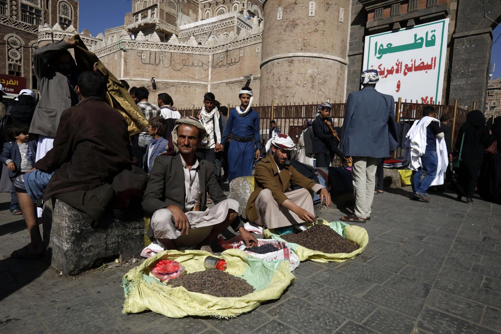 Targ w Jemenie EPA/YAHYA ARHAB