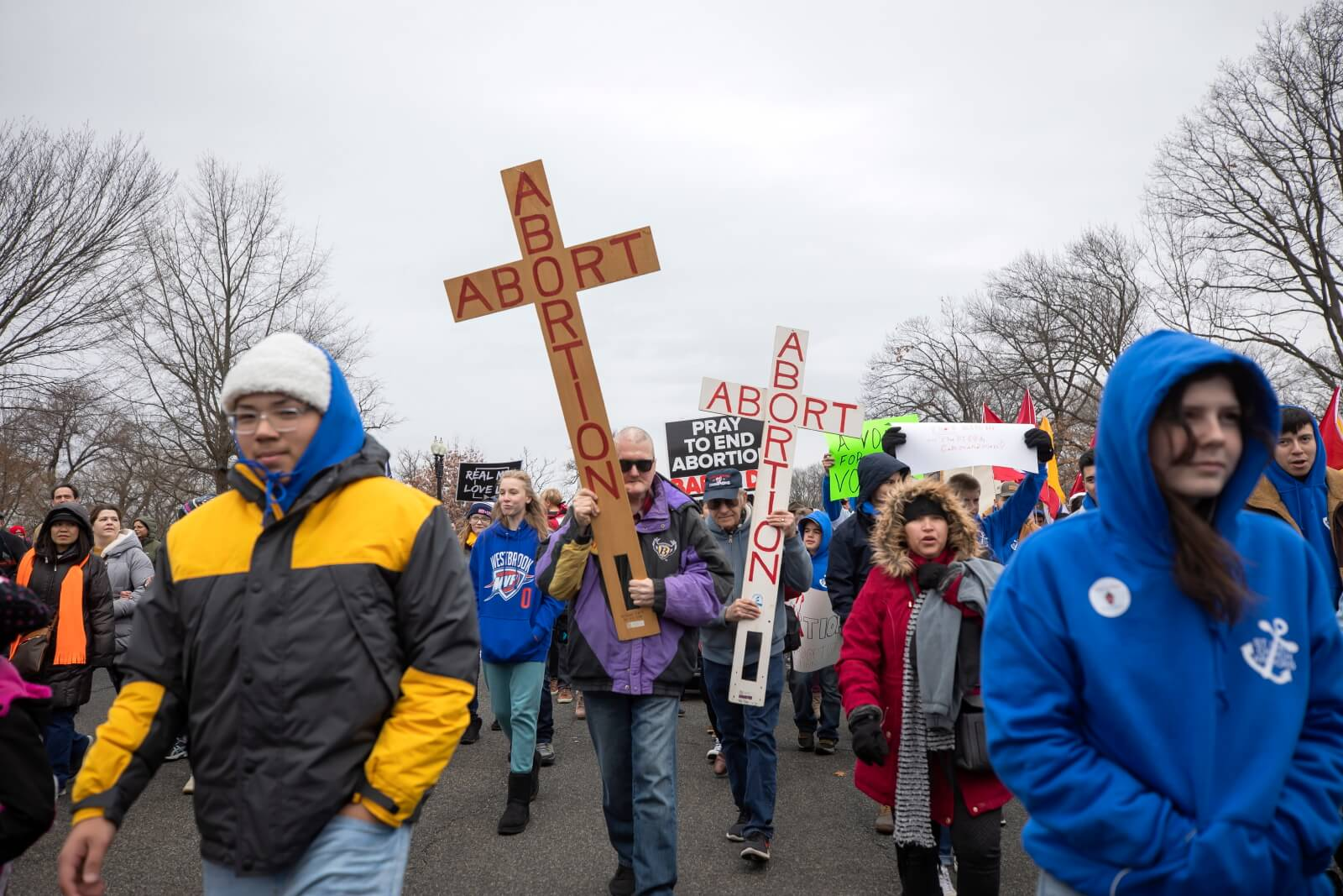 Marsz dla życia w USA fot.  EPA/ERIK S. LESSER