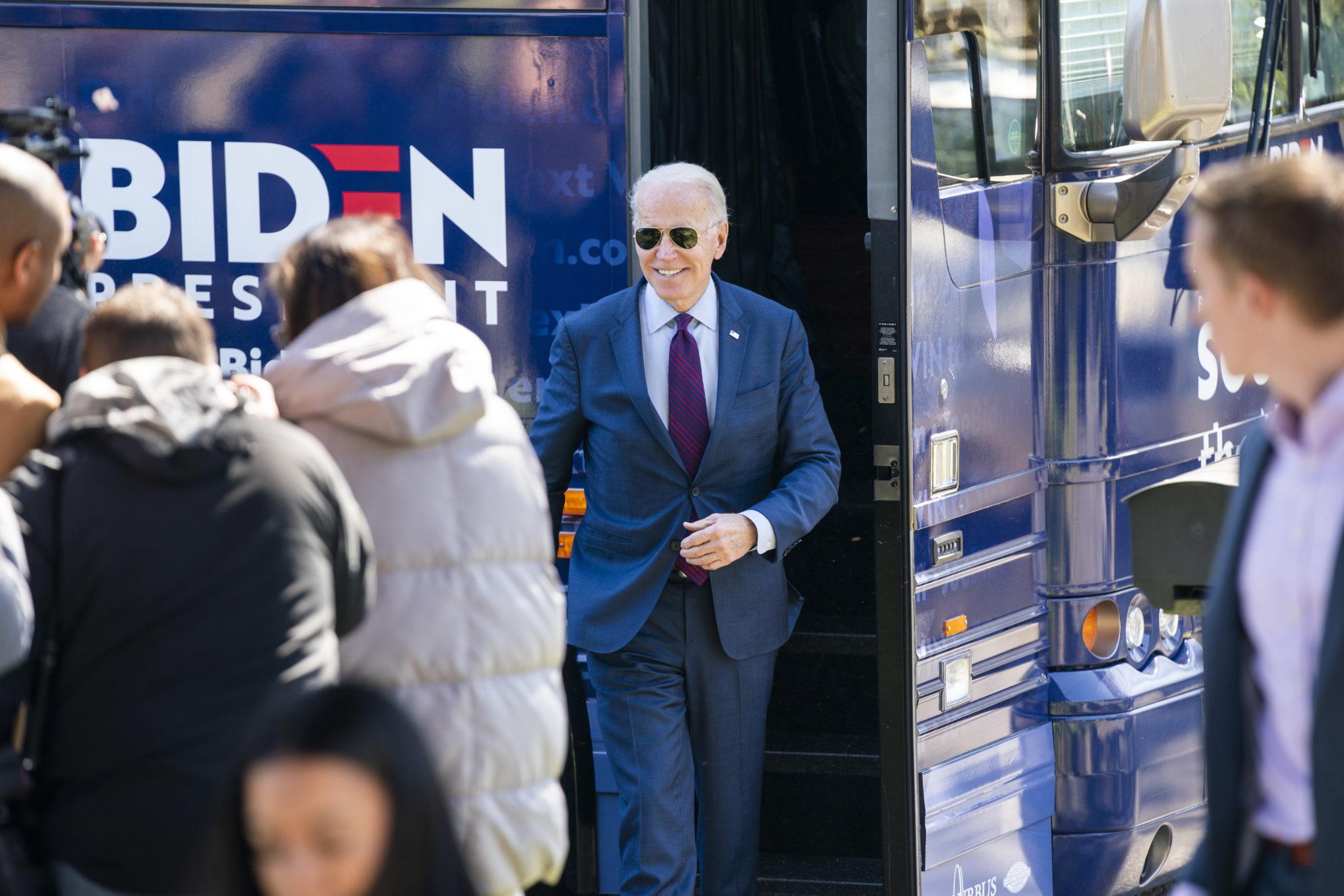 Wybory w USA. Na zdjęciu Joe Biden. Fot. EPA/JIM LO SCALZO