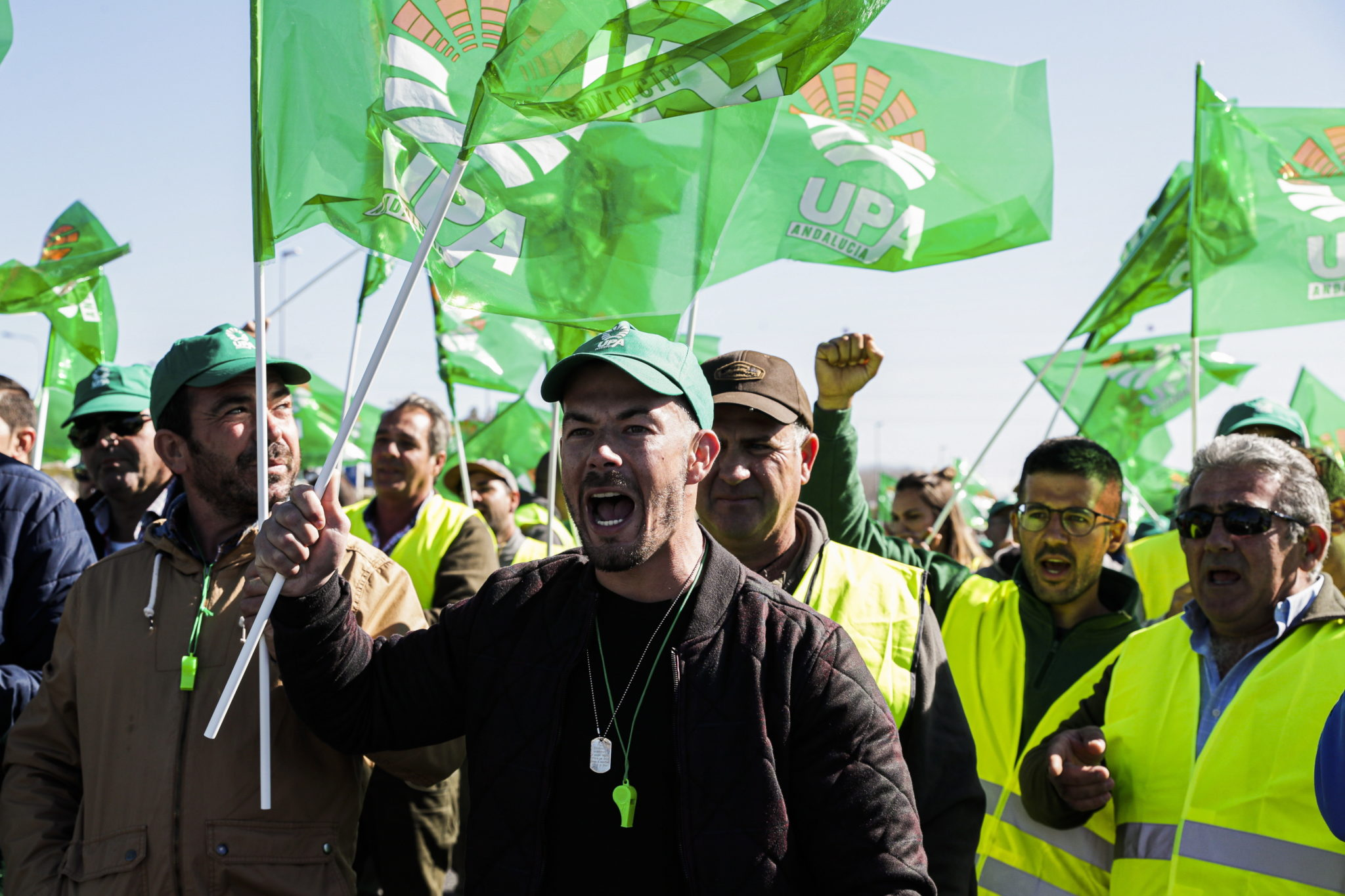 Protesty rolników w Hiszpanii. Fot. EPA/LUIS FORRA