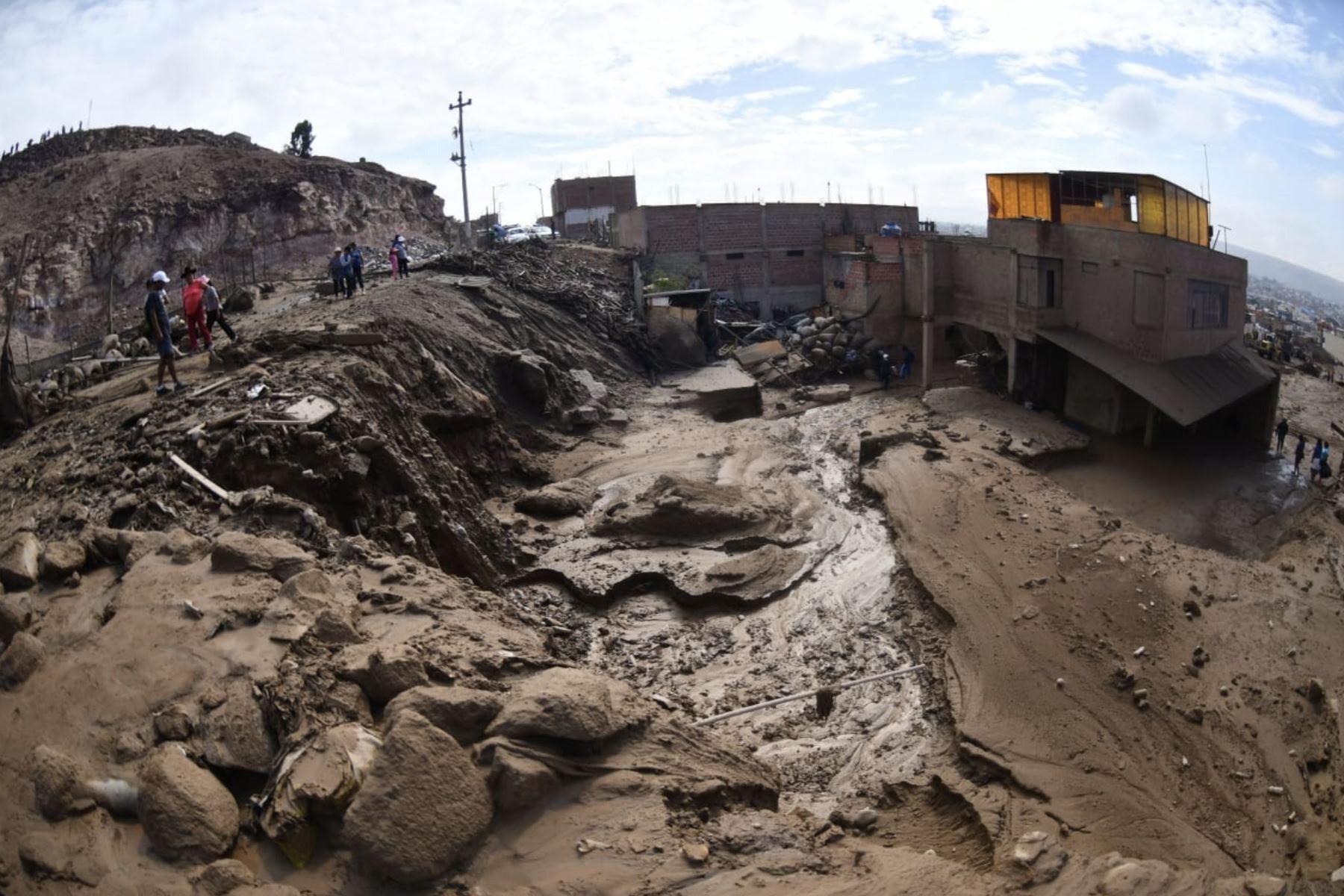 Osunięcia ziemi w Peru. fot. EPA/Andina HANDOUT