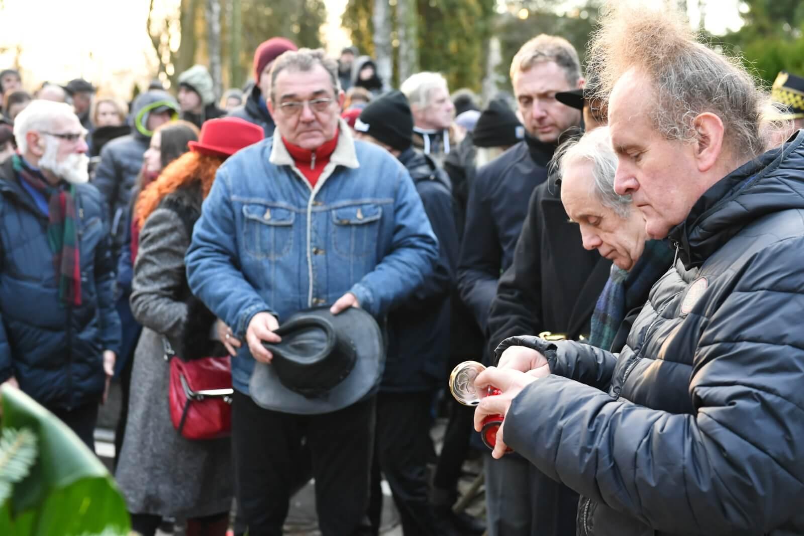 Pogrzeb Romualda Lipki fot. PAP/Wojtek Jargiło