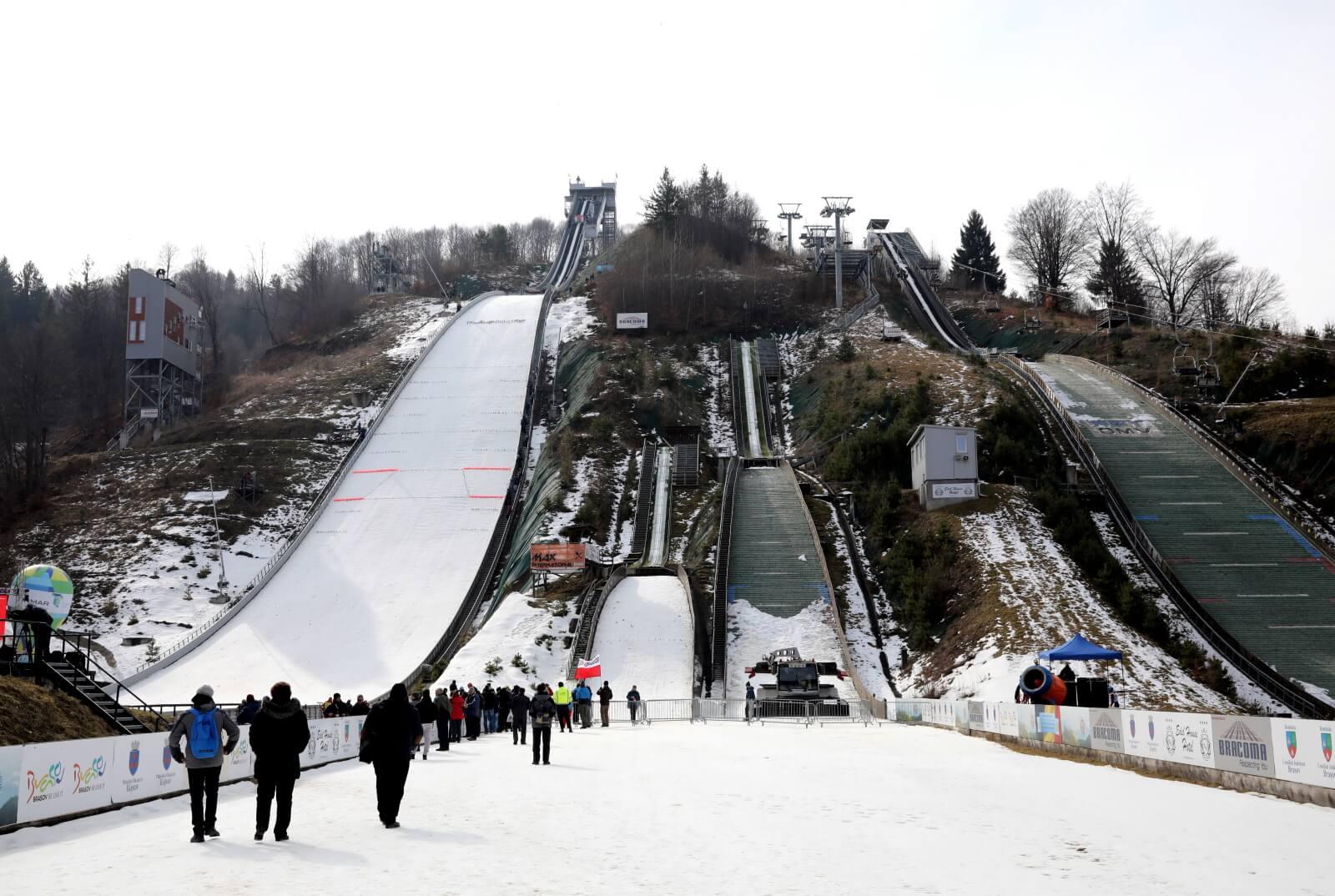 Skocznie narciarskie w Rasnov fot. PAP/Grzegorz Momot