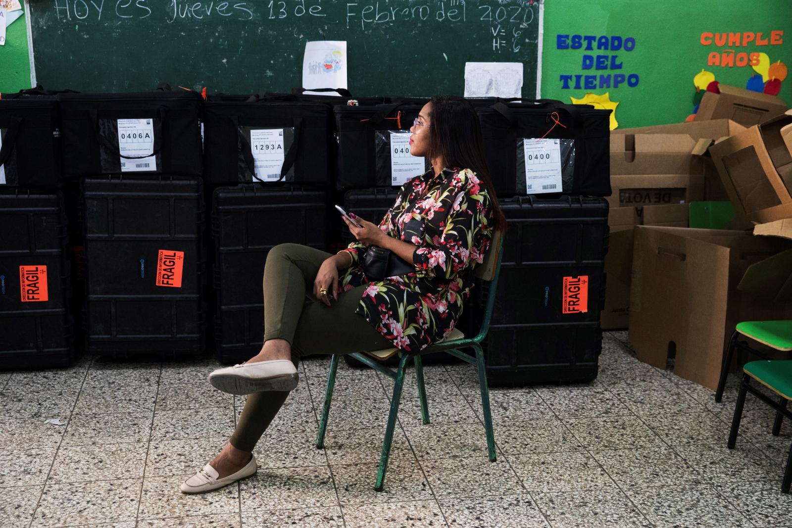 Wybory na Dominikanie. Fot. EPA/Orlando Barria