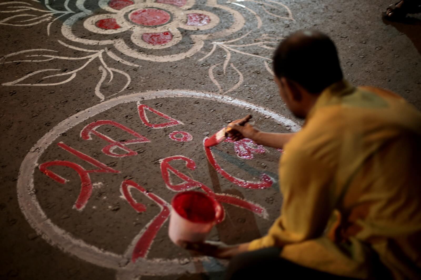 Dzień języka ojczystego w Kalkucie fot. EPA/PIYAL ADHIKARY