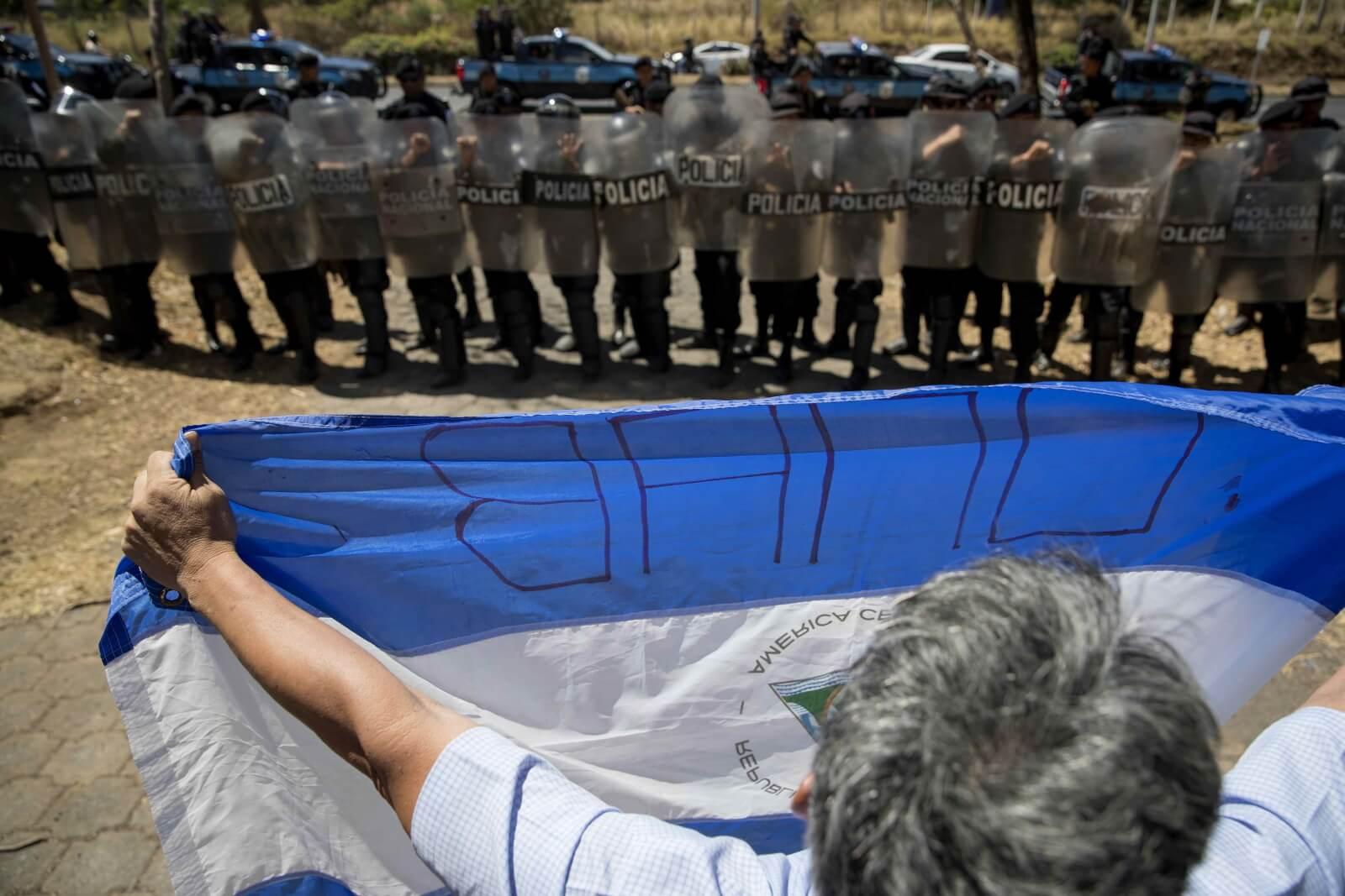Protesty w Nikaragui fot. EPA/Jorge Torres