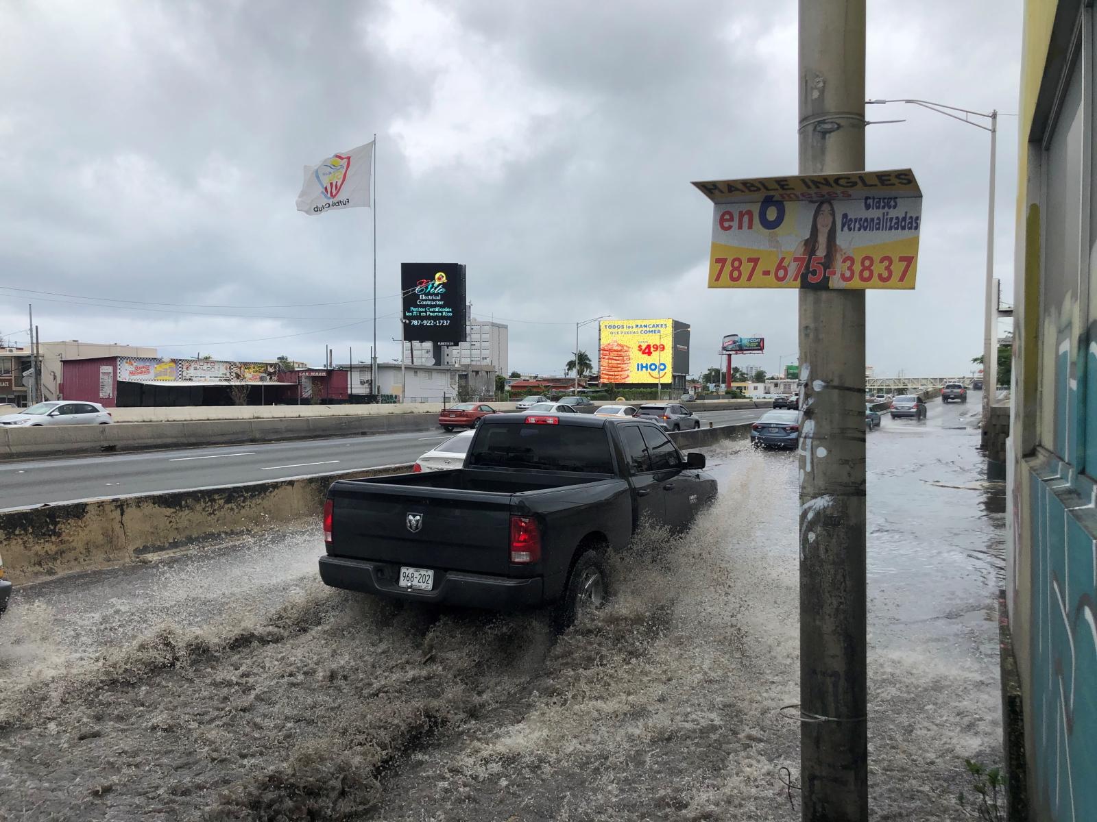 Rekordowa powódź w lutym fot. EPA/CRISTINA OZAETA HEUSEL