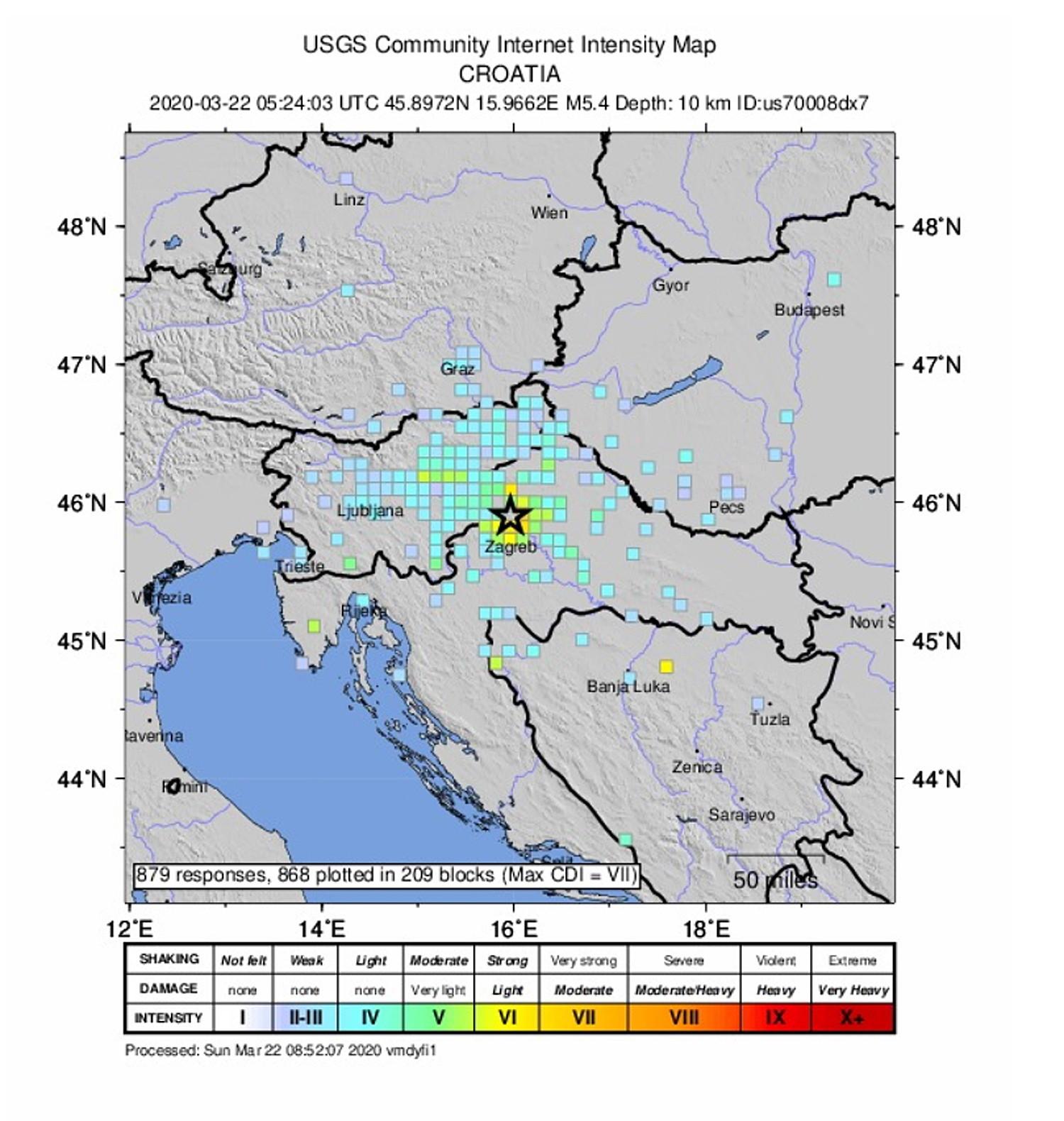chorwacja - trzęsienie ziemi
