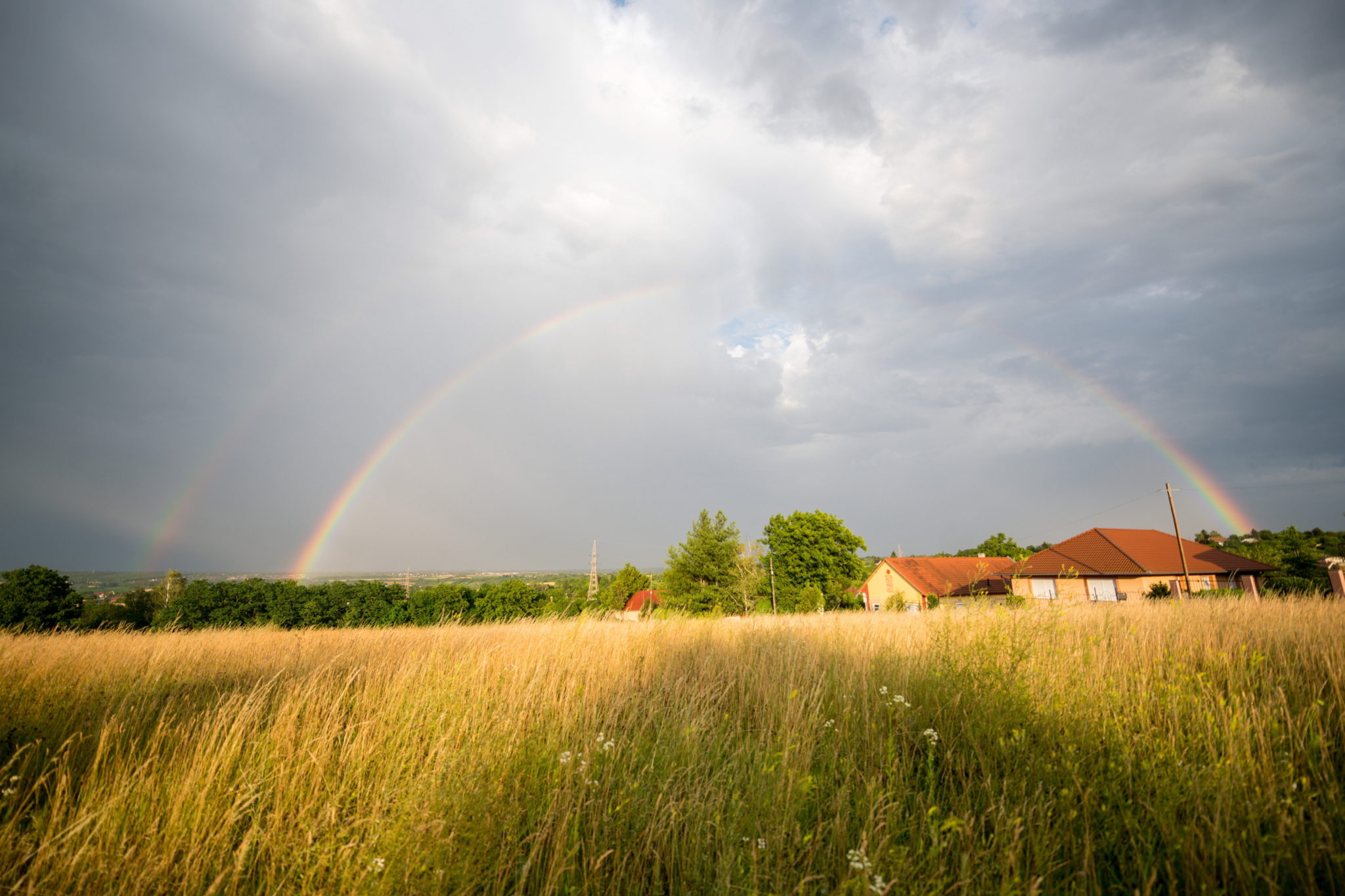 Południe Węgier, podwójna tęcza, fot. EPA / TAMAS SOKI