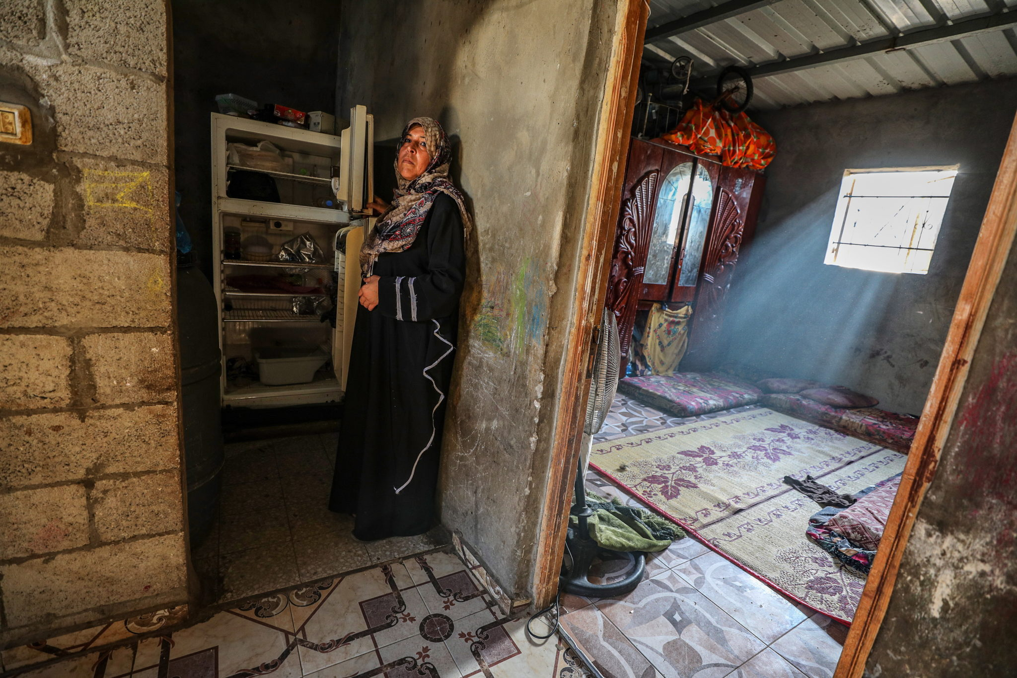 Obóz dla uchodźców Chana Younisa w południowej Stefie Gazy, fot. EPA / MOHAMMED SABER
