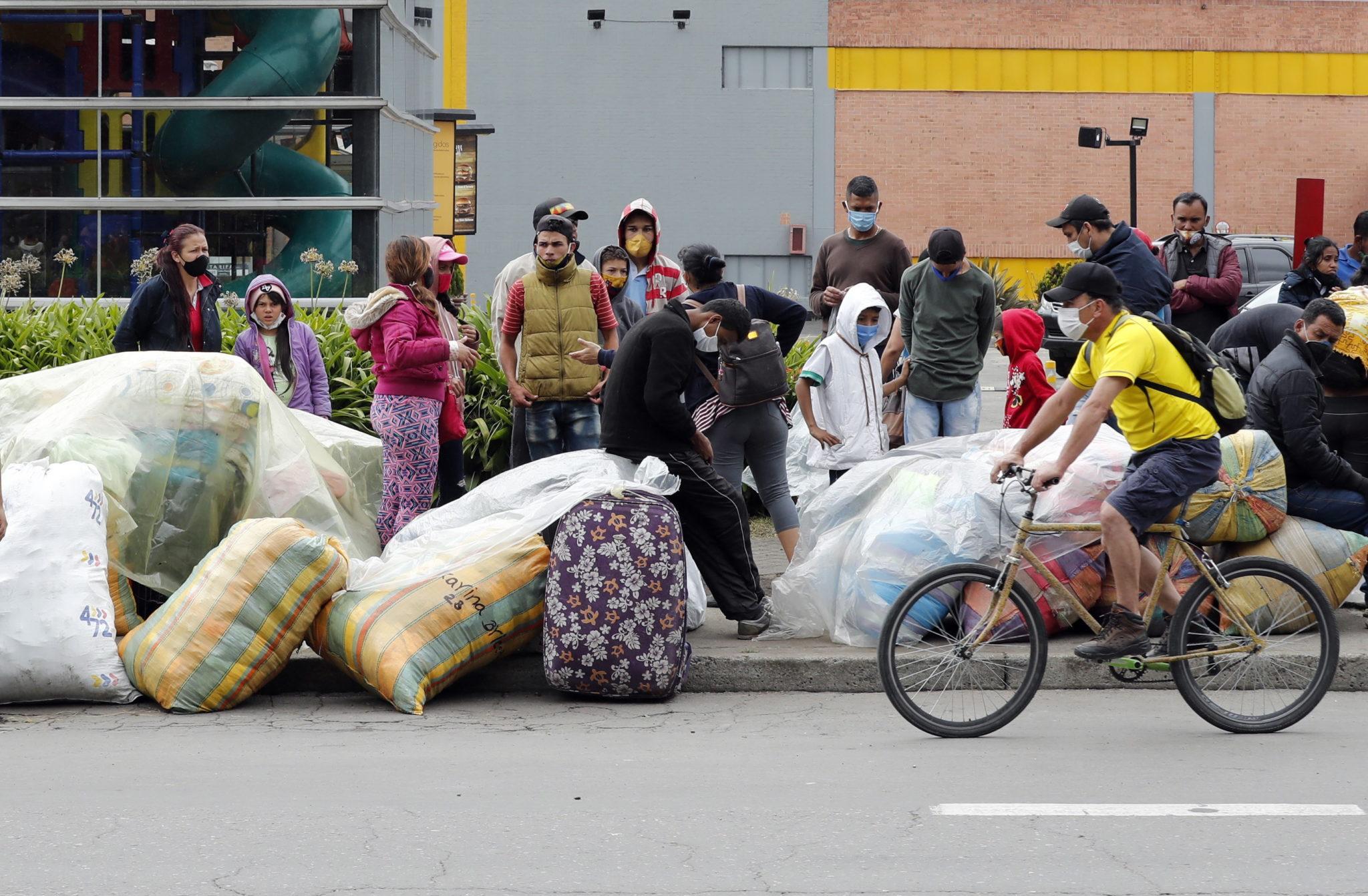 Migranci w Wenezueli, Colombia, ffot. EPA/Mauricio Duenas Castañeda