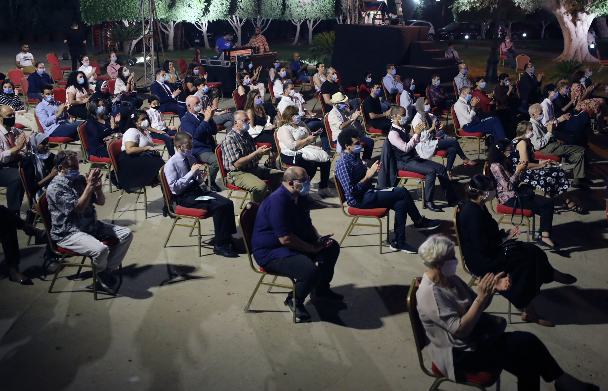Kair, Egipt: pierwszy koncert Kairskiej Orkiestry Symfonicznej, fot. EPA KHALED ELFIQI