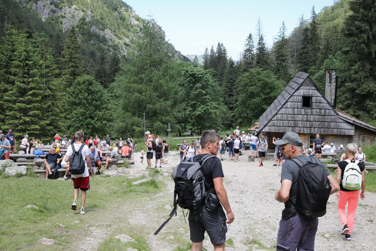 Turyści podczas wypoczynku w Dolinie Strążyskiej fot. PAP/Grzegorz Momot