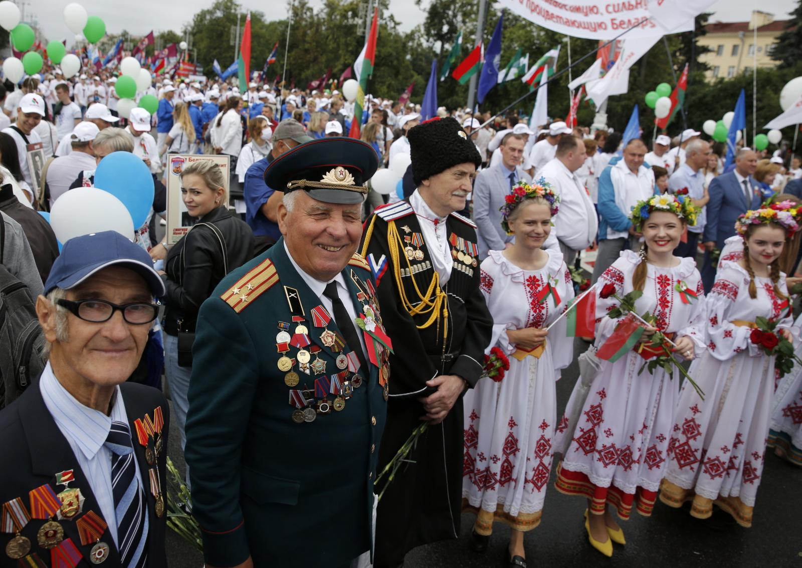 Dzień Niepodległości na Białorusi  EPA/TATYANA ZENKOVICH