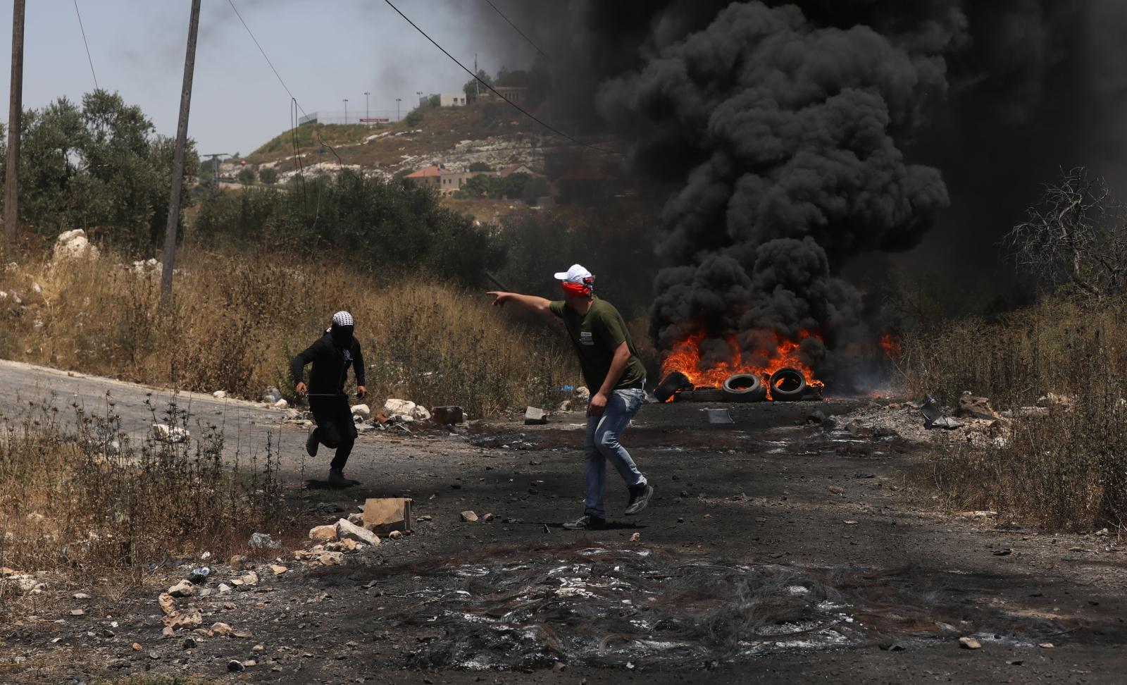 Konflikt w Palestynie EPA/ALAA BADARNEH